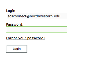 Adobe Connect password entry panel