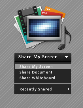 Adobe Connect Share My Screen menu.