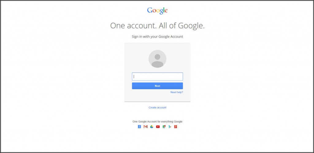 Gmail log-in page.