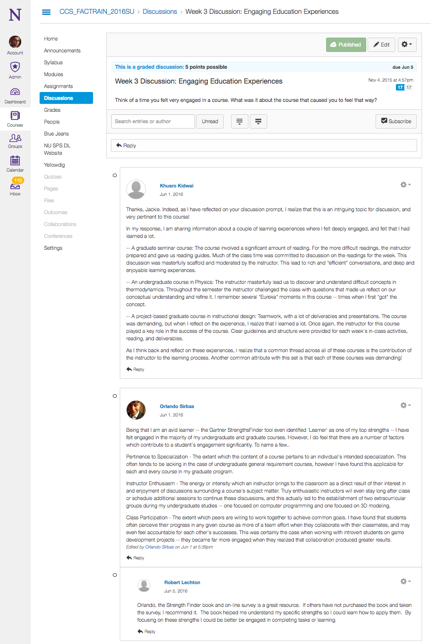 Canvas Discussion Boards - SPS | Distance Learning